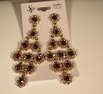 Chandelier Earrings, Topaz