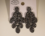 Chandelier Earrings, black diamond