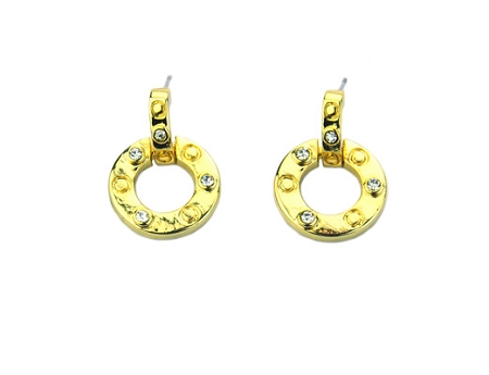 Roberto Coin Inspired Gold Earrings Round