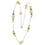 Marco Bicego Inspired Gold & Stone Necklace
