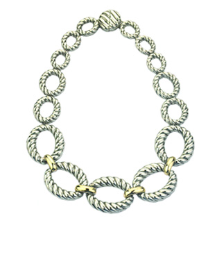 David Yurman Inspired Cable Link Necklace
