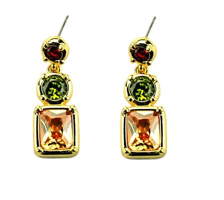 Marco Bicego Inspired 3 stone earrings