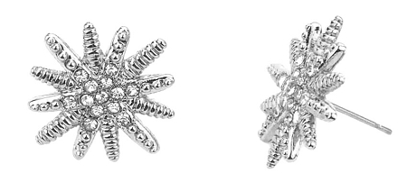 Home Fashion Jewelry David Yurman Inspired Starburst Earrings Silver