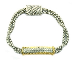 David Yurman Inspired pave bar bracelet