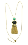 Tassel Gold with Onyx
