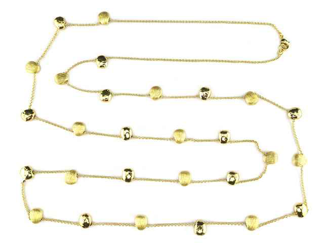 Marco Bicego Inspired Gold Nugget Necklace 48