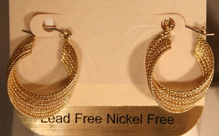 Twisted Hoop(Gold)