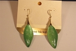 Green Lucite Earrings Inspired by Alexis Bittar