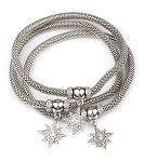 Stackable Mesh Bracelet with Stars