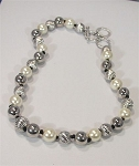 Pearl & Silver Ball Necklace