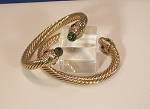 Classic Cable Cuff Bracelet (Olive)