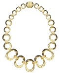Marco Bicego Inspired Matt Gold Oval Link Necklace