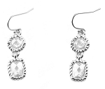 Ippolita Inspired Rhodium & CZ Earrings