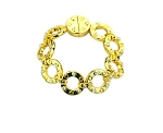 Roberto Coin Inspired Gold Round Link Bracelet