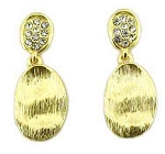 Marco Bicego Inspired Gold Flat Nugget & CZ ER