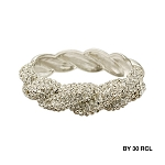 Statement Clear Crystal Twist Design Bangle
