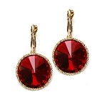 Crystal Earrings Red