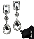 Crystal Earrings Clear Dangle