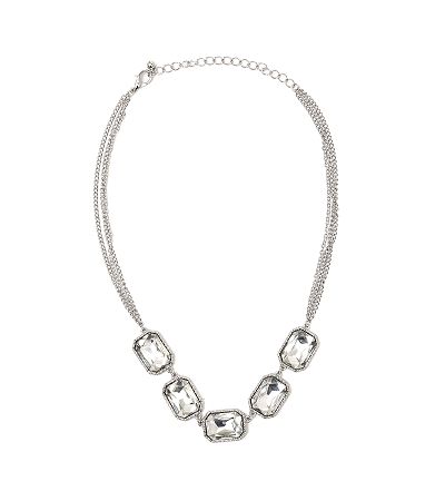 Crystal Necklace Clear