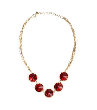 Crystal Necklace Red