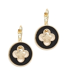 Van Cleef Inspired Earrings Black