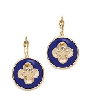 Van Cleef Inspired Earrings Blue