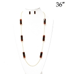 Tortoise Look Long Necklace