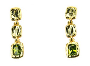 Marco Bicego Inspired Gold Peridot Earrings
