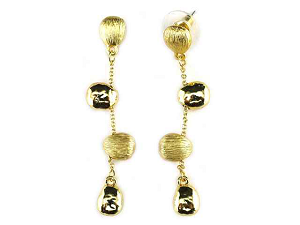 Marco Bicego Inspired Gold Nugget Dangle Earrings