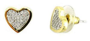 Pave Heart Earrings Inspired by Tiffany