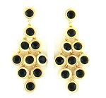 Chandelier Earrings (Black)