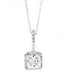 CZ Princess cut pendant