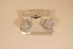 Pave Earrings French Clip