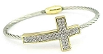 Pave Cross Wire Bracelet