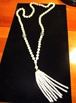 Gatsby Pearl Tassel Necklace