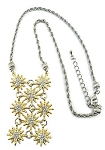 David Yurman Inspired Gold Starburst Bib Necklace